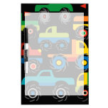 Cool Monsters Trucks Transportation Gifts for Boys Dry-Erase Boards
