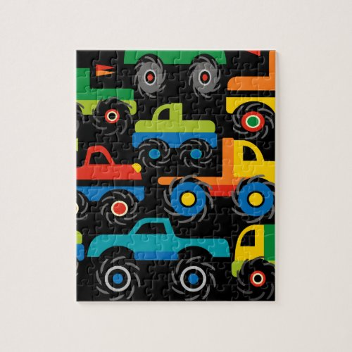 Cool Monsters Trucks Transportation Gifts for Boys Jigsaw Puzzle