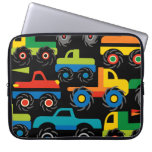Cool Monsters Trucks Transportation Gifts for Boys Laptop Sleeves