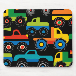Cool Monsters Trucks Transportation Gifts for Boys Mouse Pad