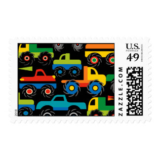 Cool Monsters Trucks Transportation Gifts for Boys Stamps