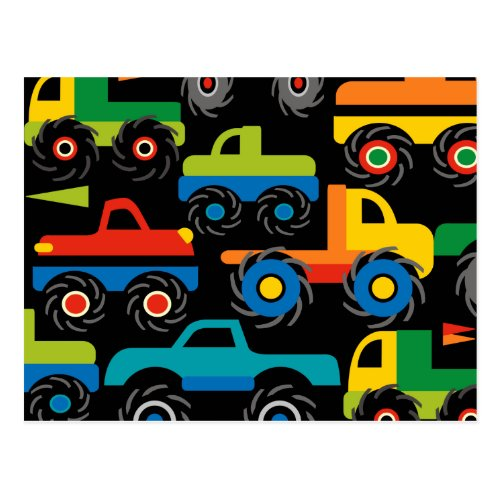 Cool Monsters Trucks Transportation Gifts for Boys Postcard
