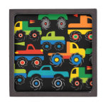 Cool Monsters Trucks Transportation Gifts for Boys Premium Keepsake Boxes