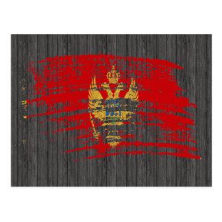 Cool Montenegrin flag design Postcard