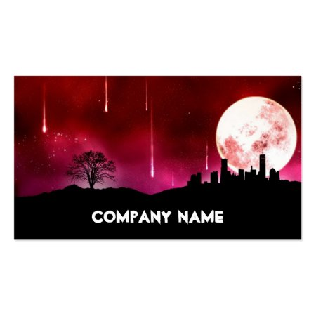 Cool Moon On Red Sky Astronomist Business Cards