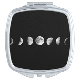 Cool Moon Phases Compact Mirror