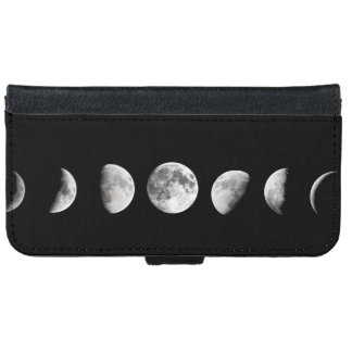 Cool Moon Phases iPhone 6 Wallet Case
