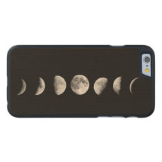 Cool Moon Phases Iphone 6 Wood Case at Zazzle
