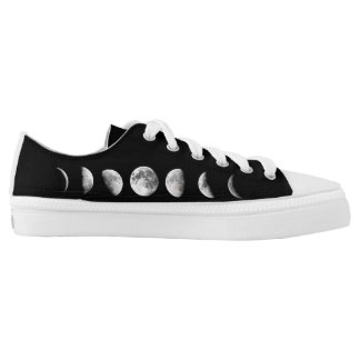 Cool Moon Phases Low Top Shoes