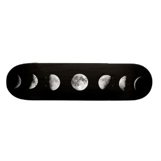 Cool Moon Phases Skateboarding Deck