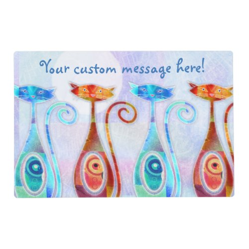 Cool Moonkats Custom Textured Collage Placemat