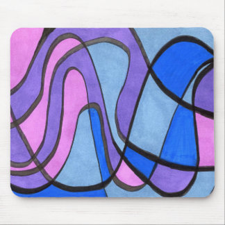 """""""Cool Morning"""" Abstract Design Mousepad"""