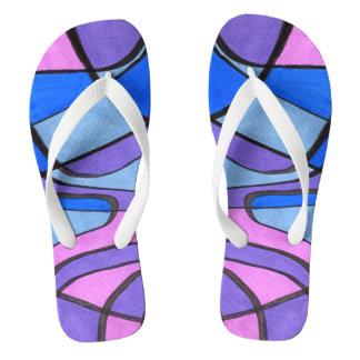 """Cool Morning"" abstract flip flops. Flip Flops"