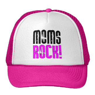 Cool Mothers Day Birthdays Christmas : Moms Rock Mesh Hat