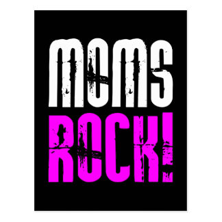 Cool Mothers Day Birthdays Christmas : Moms Rock Post Cards