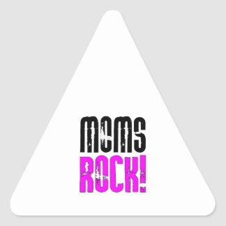 Cool Mothers Day Birthdays Christmas : Moms Rock Triangle Sticker