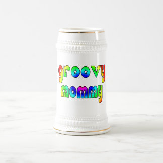 Cool Mothers Day & Hip Moms Birthdays Groovy Mommy Beer Stein