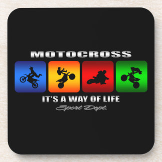 Cool Motocross It Is A Way Of Life Beverage Coaster