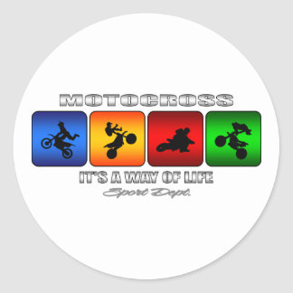 Cool Motocross It Is A Way Of Life Classic Round Sticker