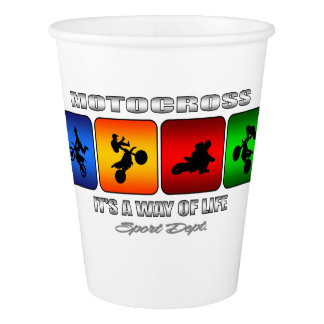 Cool Motocross It Is A Way Of Life Paper Cup