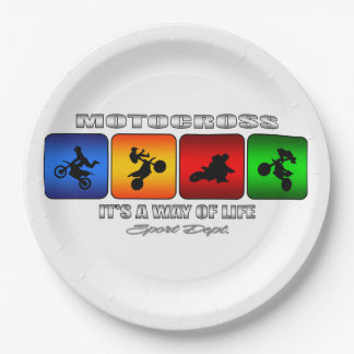 Cool Motocross It Is A Way Of Life Paper Plate