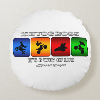 Cool Motocross It Is A Way Of Life Round Pillow