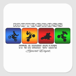 Cool Motocross It Is A Way Of Life Square Sticker