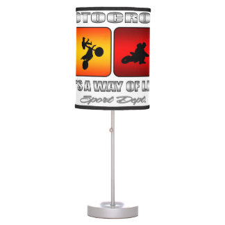 Cool Motocross It Is A Way Of Life Table Lamp