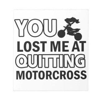Cool motorcross designs memo pad