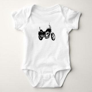 Cool motorcycle bike silhouette baby bodysuit