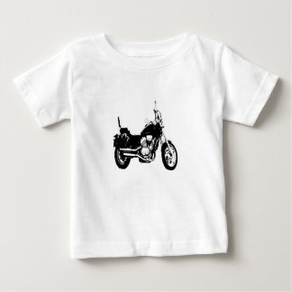 Cool motorcycle bike silhouette baby T-Shirt