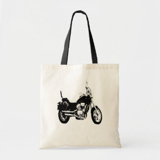 Cool motorcycle bike silhouette canvas bag