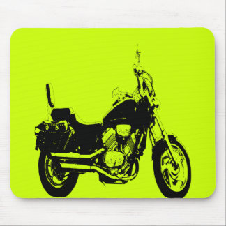 Cool motorcycle bike silhouette mouse pad