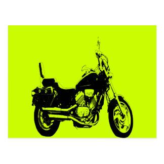 Cool motorcycle bike silhouette postcard