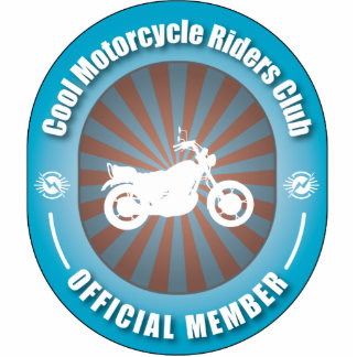 Cool Motorcycle Riders Club Photo Sculpture Ornament