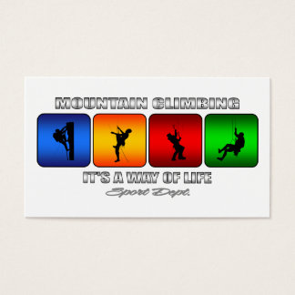 Cool Mountain Climbing It Is A Way Of Life Business Card