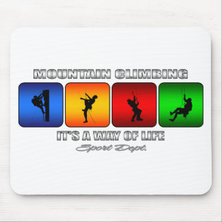 Cool Mountain Climbing It Is A Way Of Life Mouse Pad