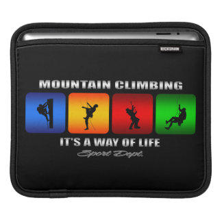 Cool Mountain Climbing It Is A Way Of Life Sleeve For iPads