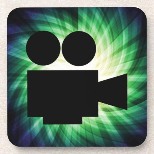 Cool Movie Camera; Video Film Coaster