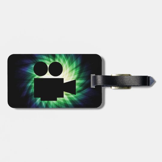 Cool Movie Camera; Video Film Luggage Tag
