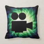 Cool Movie Camera; Video Film Throw Pillows