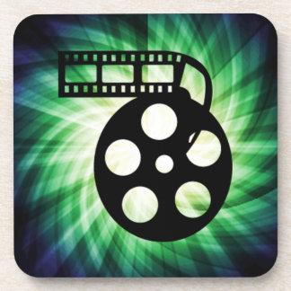 Cool Movie Film Reel Drink Coasters