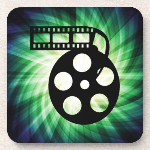 Cool Movie Film Reel Drink Coaster