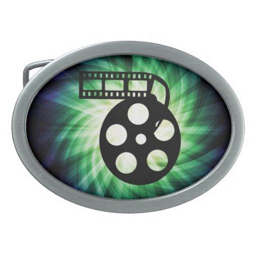 Cool Movie Film Reel Oval Belt Buckle