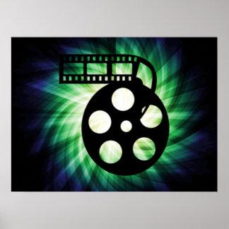 Cool Movie Film Reel Poster