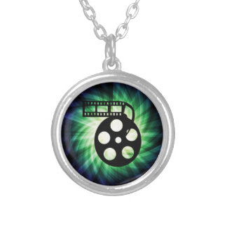Cool Movie Film Reel Round Pendant Necklace
