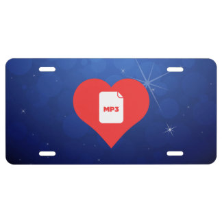 Cool Mp3 Picto License Plate