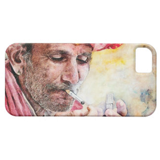 Cool Mr. Smoker classic watercolor portrait paint iPhone SE/5/5s Case