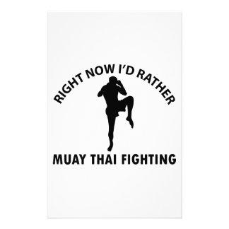 cool Muay thai  designs Stationery