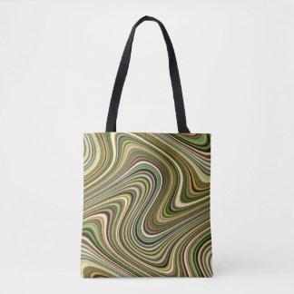 Cool Multi-Color Curvy Lines Tote Bag